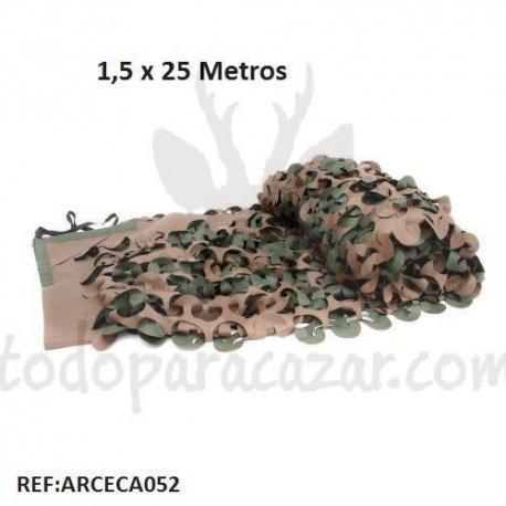 Tela de Camuflaje 3D Verde-Marrón 1,5x25m