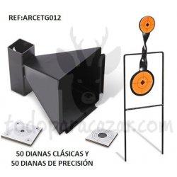 Pack Tiro al Blanco c/Diana Rotativa 2 Elementos