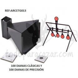 Pack Tiro al Blanco c/Diana Rotativa 5 Elementos
