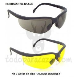 Kit 2 Gafas de Tiro RADIANS JOURNEY