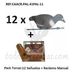 Pack Reclamo Paloma  Torcaz + 12 Señuelos