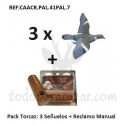 Pack Reclamo Paloma Torcaz + 3 Señuelos