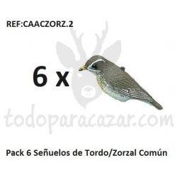 Pack 6 Señuelos para Tordo / Zorzal Común