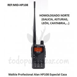 Walkie Talkie ALAN HP108 Homologado Caza