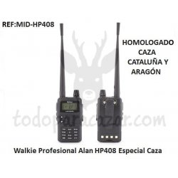 Walkie Talkie ALAN HP408 Homologado Caza