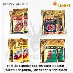 Pack Mezclas CEYLAN para Hacer Embutido