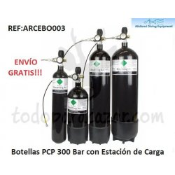 Botella PCP 300Bar - 3, 4, 7 o 12 litros