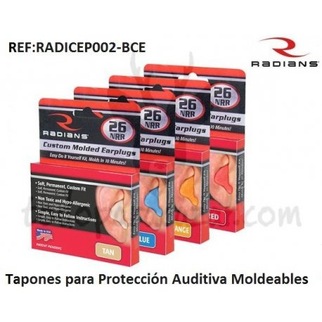 Tapones Moldeables RADIANS Color Azul