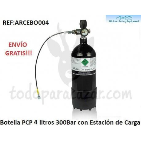 Botella PCP 300Bar - 4 litros