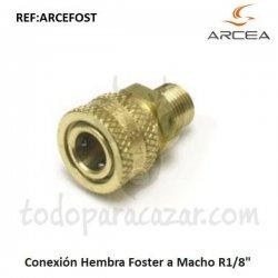 """Conexión Hembra Foster a Macho R1/8"""""""