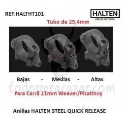 Anillas HALTEN STEEL QUICK RELEASE 25,4mm
