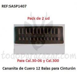 Canana de Cuero 12 Balas - Pack 2 ud