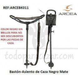 Bastón-Asiento de Caza Negro Mate