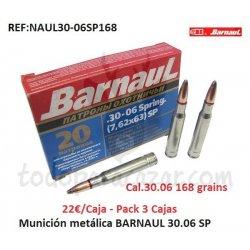 Munición Metálica Económica BARNAUL 30.06 SP