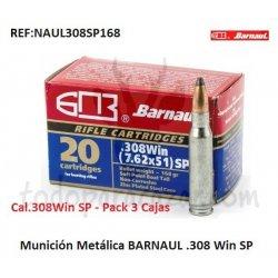 Munición Metálica Económica BARNAUL .308 Win SP