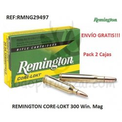 Pack 2ud - Munición Metálica REMINGTON CORE-LOKT 300 Win. Mag.