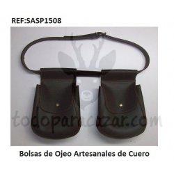Bolsas de Ojeo Artesanales de Cuero