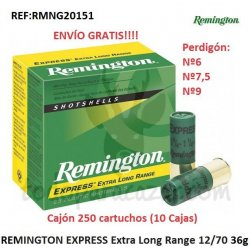 Cartuchos de Caza REMINGTON EXPRESS Extra Long Range 36gr