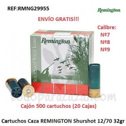 Cartuchos de Caza REMINGTON Shurshot 32gr 12/70