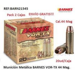 Munición Metálica BARNES VOR-TX 44Mag. - 2 Cajas