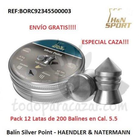 Balín HAENDLER & NATERMANN - Silver Point Cal. 5.5