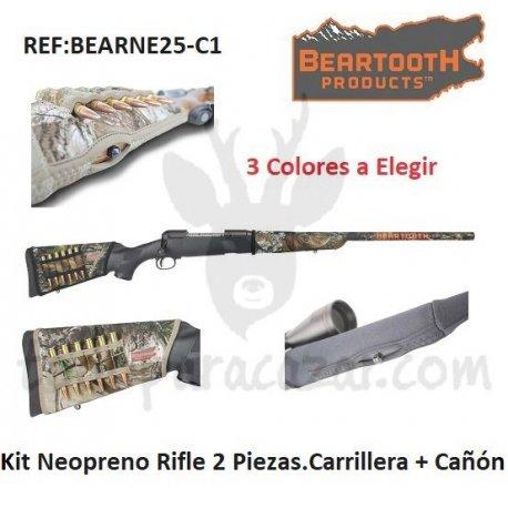 Kit Neopreno Rifle 2 Piezas. Carrillera + Cañón