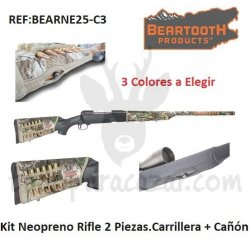 Kit Neopreno Rifle 2 Piezas. Carrillera + Cañón
