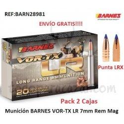 Munición Metálica BARNES VOR-TX LR 7mm Rem Mag - Pack 2 Cajas