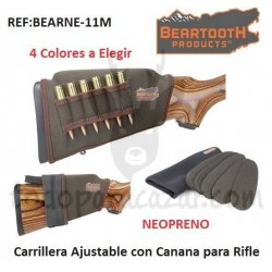 Carrillera de Neopreno Ajustable con Canana para Rifle