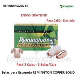 Balas para Escopeta 12/70 REMINGTON COPPER SOLID