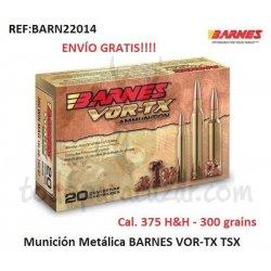 Munición Metálica BARNES VOR-TX TSX - 375 H&H
