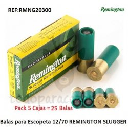 Balas para Escopeta REMINGTON SLUGGER - 5 Cajas