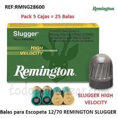 Balas para Escopeta REMINGTON SLUGGER HIGH VELOCITY - 5 Cajas