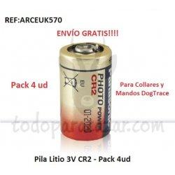 Pila Litio 3V (CR2) - Pack 4ud