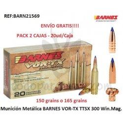Munición Metálica BARNES VOR-TX TTSX 300 Win. Mag.
