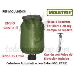Cebadero Automático MOULTRIE con Bidón 35 Litros