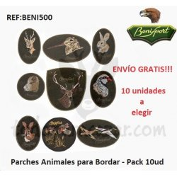 Parches Animales para Bordar - Pack 10 ud