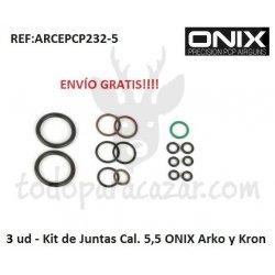 3 x Kit juntas Cal.4,5 , Cal.5,5 o Cal.6,35 para ONIX Initzia, Arko, Kron o Bulk