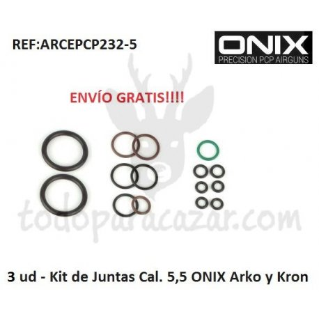 3 x Kit juntas Cal.5,5 ONIX Arko y Kron