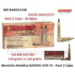 BARNES VOR-TX TAC-TX 300 AAC Blk - Pack 2 Cajas