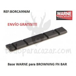 Base Weaver WARNE para BROWNING FN BAR