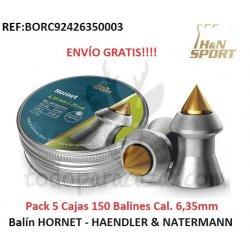 Pack 5 Cajas Balín HORNET Cal. 6,35 - HAENDLER & NATERMANN