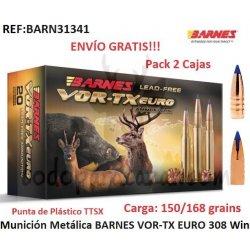 BARNES VOR-TX TTSX EURO 308Win- Pack 2 Cajas