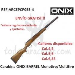 Carabina PCP ONIX BARREL Monotiro/Multitiro