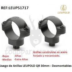 Juego de Anillas LEUPOLD QR 30mm - Desmontables