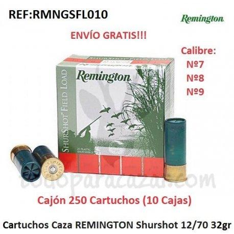 Cartuchos de Caza REMINGTON Shurshot 32gr - 10 Cajas