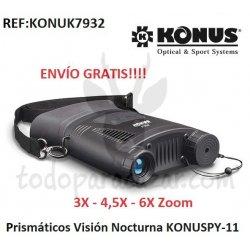 Prismáticos Visión Nocturna KONUSPY-11 3X-4,5X-6X Zoom