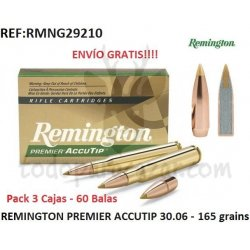 REMINGTON PREMIER ACCUTIP 30-06 165 grains - Pack 3 Cajas