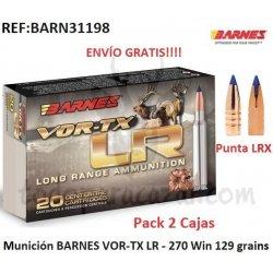 Munición Metálica BARNES VOR-TX LR 270 Win - Pack 2 Cajas