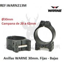 Anillas Fijas WARNE 30mm - Bajas